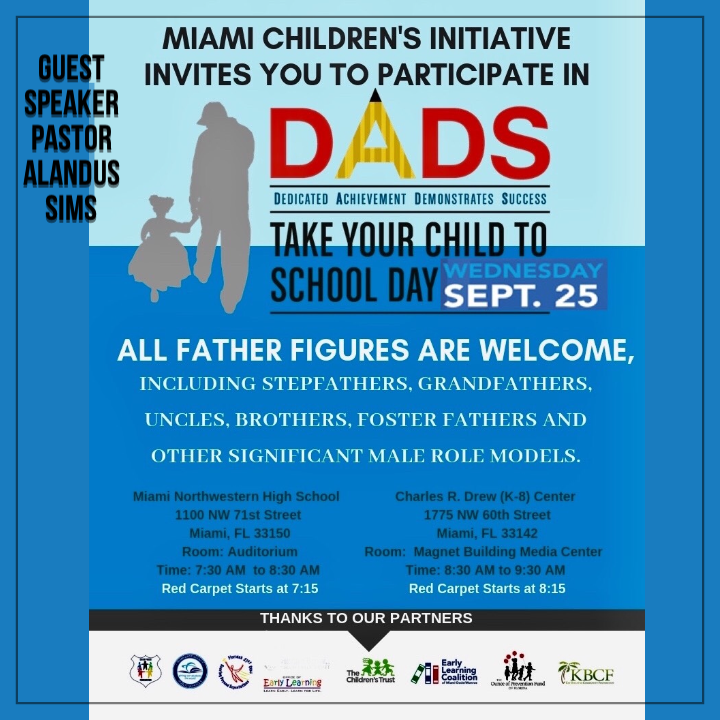 Miami DADS take your child to school day